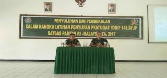 Personel Satgas Yonif 141/AYJP Terima Pembekalan Hukum