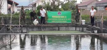 Satgas TMMD 98 Kodim 0418/PLG Bantu Bios 44 untuk Meningkatkan Produktifitas Perikanan