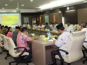 Komite III DPD RI saat sosialisasi RUU Sistem Nasional Iptek, dikantor Pemprov Sumsel.