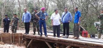 Tim Wasev Mabes TNI Tinjau Giat TMMD di Kabupaten Muba
