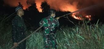 Bahu Membahu Padamkan Api Lahan Gambut di Desa Arisanjaya Ogan Ilir