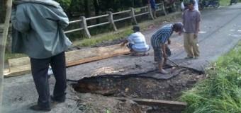 Jalan Penghubung Desa Rusak Parah