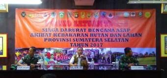 Korem 044 GAPO Siapkan Semua Unsur TNI Agar Tanggap Bencana Alam