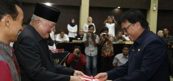 Gubernur Sumsel Serahkan DIPA Tahun Anggaran 2018