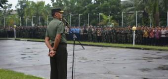 Danrem 044/Gapo Ambil Apel Gelar Pasukan PAM VVIP RI-2
