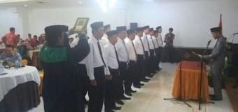 Pasiintel Kodim 0418/Palembang Hadiri pelantikan Kasek Panwascam Se-Kota Palembang