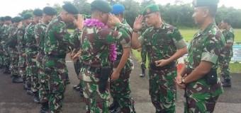 11 Personel Satgas Operasi Tinombala Disambut Pejabat Kodam II/Sriwijaya