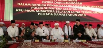 Gubernur Saksikan Penandatanganan MoU Pilkada Damai 2018