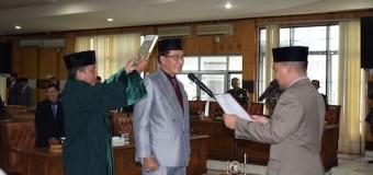 DPRD OKU Gelar Paripurna Pengambilan Sumpah PAW