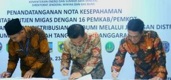 7500 Warga Palembang Dapat Sambungan Gas Gratis