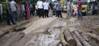 April 2018 Perbaikan Jalan Sungai Keruh dan Jirak Jaya di Mulai
