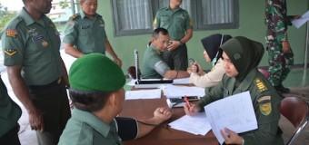 Personel Korem 044/Gapo Lakukan Pemeriksaan Kesehatan