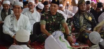 Pererat Silaturahmi Dengan Para Ulama, Dandim 0418/Palembang Hadiri Haul Dan Ziarah Kubro