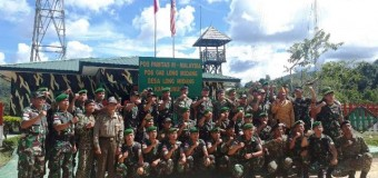 Danrem 044/Gapo Dampingi Pangdam II/Swj Tinjau Satgas Pamtas RI-Malaysia Yonif 141/AYJP Di Nunukan Kalimantan Utara