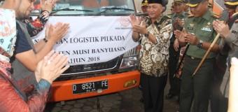 KPU Muba Distribusikan Logistik, Sekda Titip Pesan