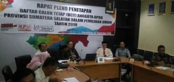 KPU Sumsel Lakukan Pencermatan DCT Pemilihan DPRD Sumsel