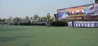 Demo Ketrampilan Prajurit Warnai Puncak Peringatan HUT Ke-73 TNI Tahun 2018