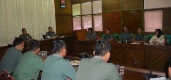Korem 044/Gapo Terima Tim Pengawasan Doktrin dan Petunjuk TNI AD Dari Mabesad