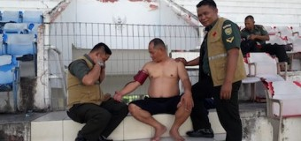 Personel Korem 044/Gapo Laksanakan Bimsuh Renang Untuk UKP
