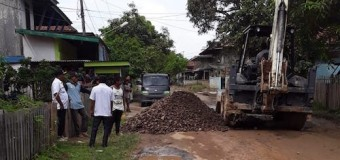Jalan Provinsi Sekayu-Pali yang Rusak Parah Kkini Berangsur Pulih