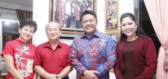 Imlek, Herman Deru Ajak Keluarga Keliling ke Rumah Tokoh Tionghoa di Sumsel