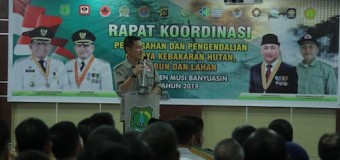 Wajib Berkolaborasi Pemerintah Perusahaan dan Masyarakat Muba Cegah Karhutla
