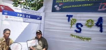 Dongkrak Partisipasi Pemilih, TPS Rantau Sialang Sediakan Swafoto