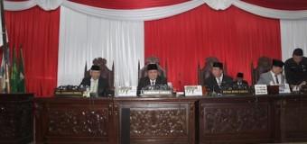 Gubernur Jelaskan Raperda Pertangungjawaban Penggunaan APBD Tahun 2018 dalam Sidang Paripurna DPRD Sumsel