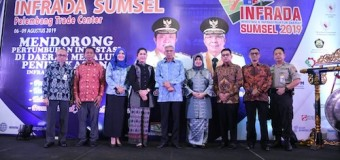 Buka Pameran Infrada 2019, Wagub Mawardi Yahya Dorong Inovasi Baru dari Kab/Kota se Sumsel