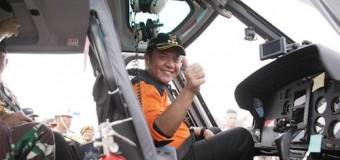 Gubernur Pantau Karhutla di Muba dari Jalur Udara