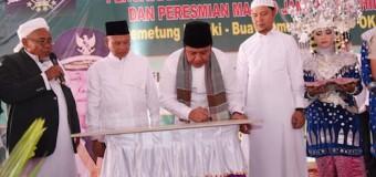 Resmikan Masjid Jami' Nurul Hidayah, Herman Deru Ajak Jemaah Makmurkan Masjid