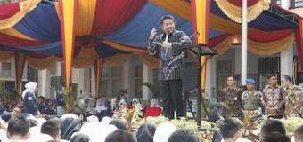 HD Pimpin Apel Pagi di SMAN 3 Palembang