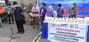 Gubernur HD Bakal Distribusikan 200.000 Liter Antiseptik untuk Warga Sumsel