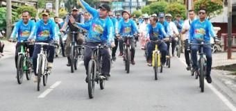 Herman Deru Ramaikan Tour De Sebiduk Sehaluan 2020 bersama Bupati OKUT