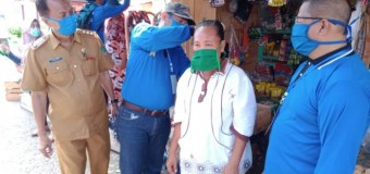 Cegah Penyebaran Covid-19, ICMI Empat Lawang Bagikan Masker Gratis