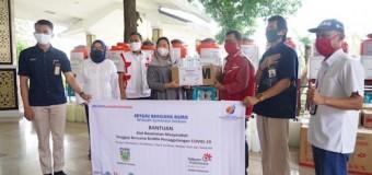 PMI Sumsel Terima Bantuan APD dan Hand Sanitizer dari Satgas Bencana BUMN