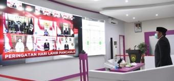 Herman Deru Peringati Hari Lahir Pancasila Bersama Presiden Jokowi Secara Virtual